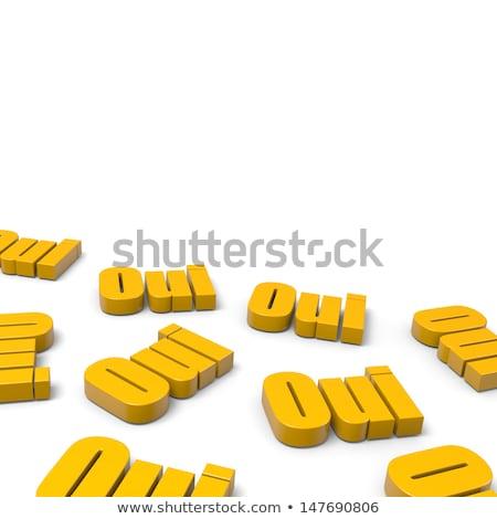 Many Yes French Orange Text Stock photo © make
