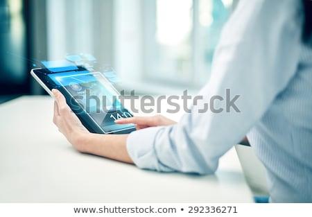 futurista · información · interfaz · pantalla · usuario · diseno - foto stock © burakowski