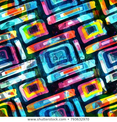 Végtelenített mértani színes minta mozaik kreatív Stock fotó © bharat