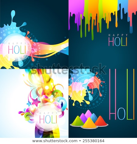 beautiful background of indian festival collection colorful set stock photo © bharat