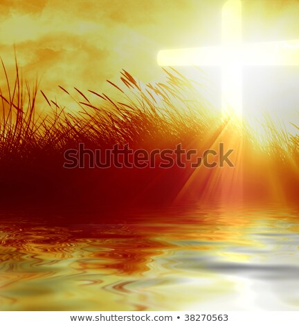 glowing water cross stock photo © rghenry