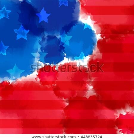 Amerykański wektora patriotyczny eps 10 gradient Zdjęcia stock © kovacevic