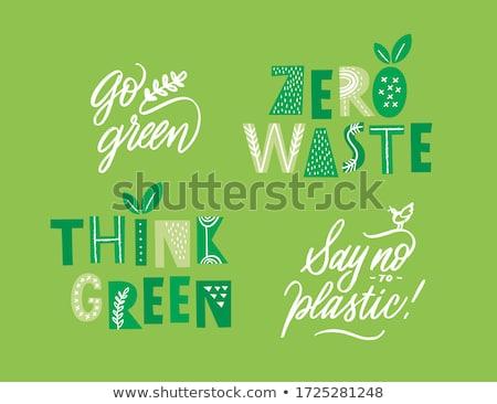 Környezetbarát üzleti logo fa terv levél Föld Stock fotó © shawlinmohd