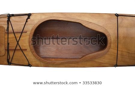 Pilótafülke fedélzet fából készült tenger kajak kulcslyuk Stock fotó © PixelsAway