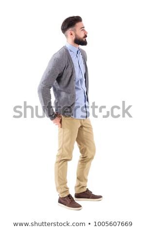 Side view Caucasian businessman looking away full length Stock photo © dgilder