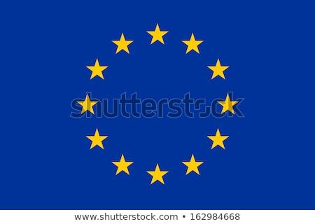 EU zászló csillagok tanulás Európa vidék Stock fotó © kiddaikiddee