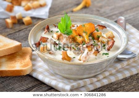 vegetable soup with chanterelle mushrooms Stock photo © Peredniankina