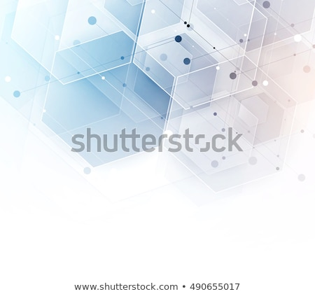abstract blue background with white hexagons and lines Stock photo © marinini