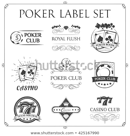 set vintage poker label vector illustration stock photo © carodi