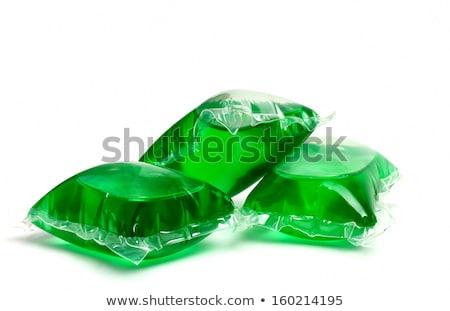 Líquido lavanderia detergente trabalhar verde Foto stock © nito
