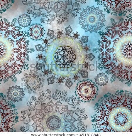 декоративный орнамент шаблон арабский Сток-фото © elenapro