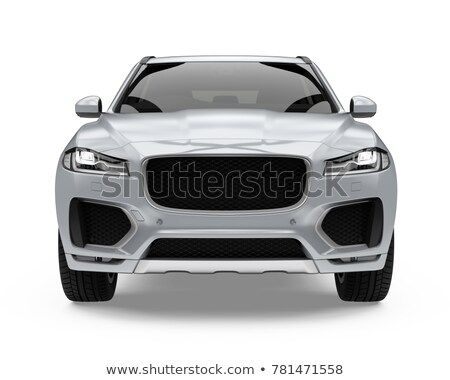 hybrid car isolated front view stock photo © goce