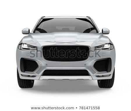 Hibrid autó izolált elöl kilátás energia Stock fotó © goce