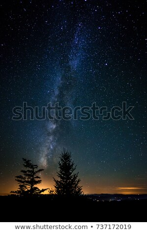 mleczny · sposób · góry · noc · krajobraz · fantastyczny - zdjęcia stock © alex_grichenko