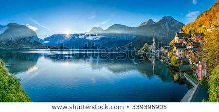 Panoramic view of Hallstatt village Stock photo © pixachi