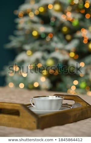 kahve · bisküvi · fincan · siyah · kahve · dizüstü · bilgisayar · kalem - stok fotoğraf © es75