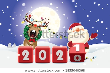 christmas santa claus changes a number of new year Stock photo © LoopAll
