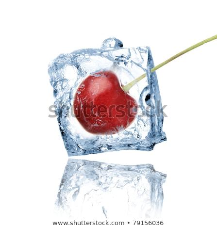 Cherry in ice cube Stock photo © Givaga