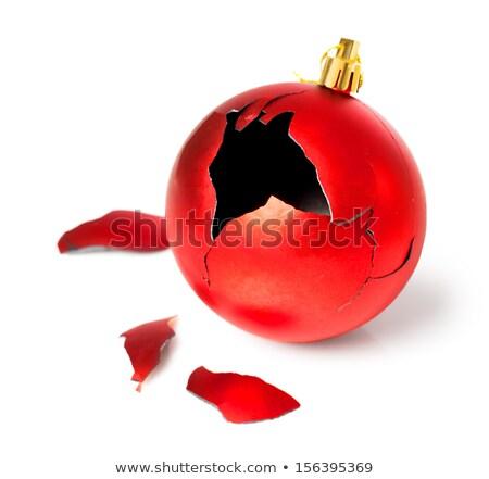 Broken red Christmas ball Stock photo © mady70