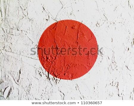 Гранж · флаг · Япония · старые · Vintage · гранж · текстур - Сток-фото © tintin75