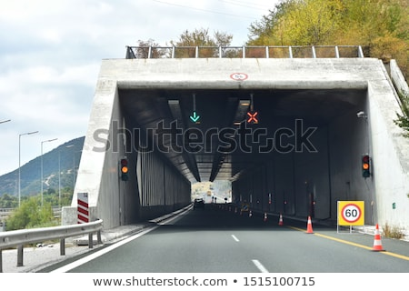highway tunnel in Rocky Mountains Stock photo © PixelsAway