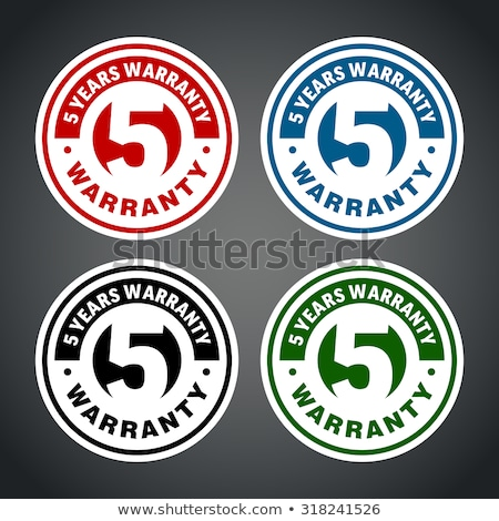 Anos garantia verde vetor ícone botão Foto stock © rizwanali3d