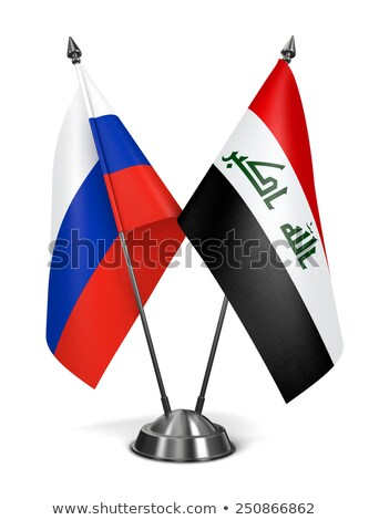 Russia and Iraq - Miniature Flags. Stock photo © tashatuvango