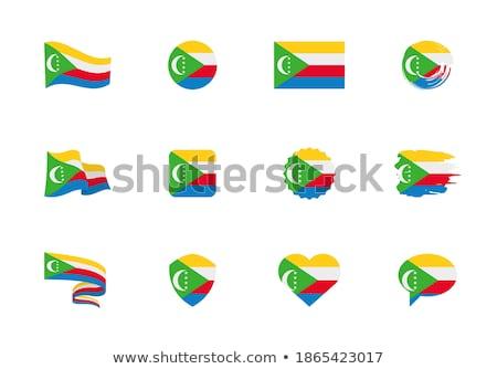 Heart shaped icon with flag of comoros Stock photo © MikhailMishchenko
