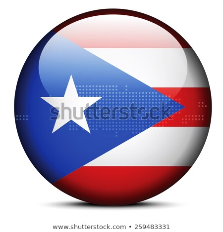 Map on flag button of Freely Associated State  Puerto Rico Stock photo © Istanbul2009