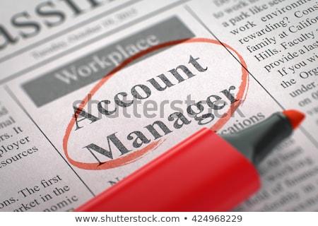 Konto kierownik gazety pracy pracy reklamy Zdjęcia stock © tashatuvango
