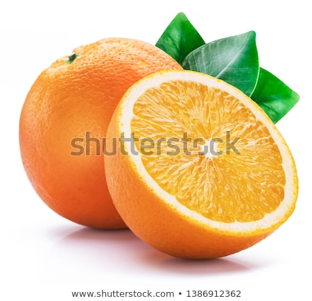 オレンジ · オレンジ · カット · スライス · 白 - ストックフォト © silroby