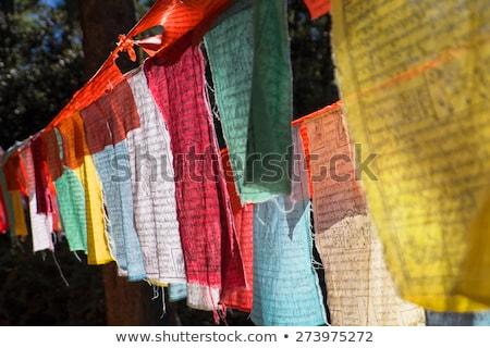 bandeira · Butão · isolado · branco · ilustração · 3d · etiqueta - foto stock © mikhailmishchenko