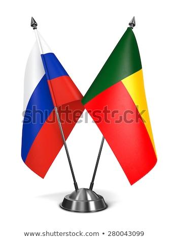 Oroszország Benin miniatűr zászlók izolált fehér Stock fotó © tashatuvango