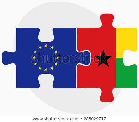 European Union and Guinea Flags in puzzle isolated on white back Stock photo © Istanbul2009