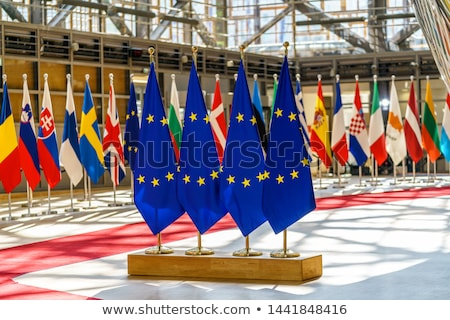 Európai szövetség Szlovénia zászlók puzzle izolált Stock fotó © Istanbul2009