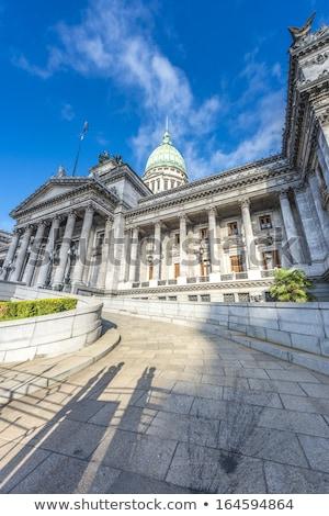 congresso · palácio · Buenos · Aires · Argentina · bandeira · estátua - foto stock © fotoquique