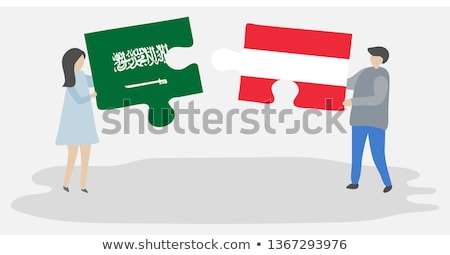 Saudi Arabia and Austria Flags in puzzle Stock photo © Istanbul2009