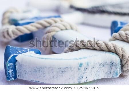 Ancre plage illustration mer sable navire Photo stock © adrenalina