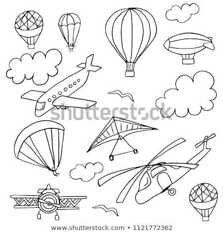 doodle air balloon stock photo © netkov1
