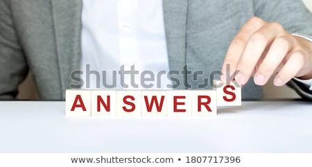 Responder palavra masculino dedos subir mão Foto stock © fuzzbones0