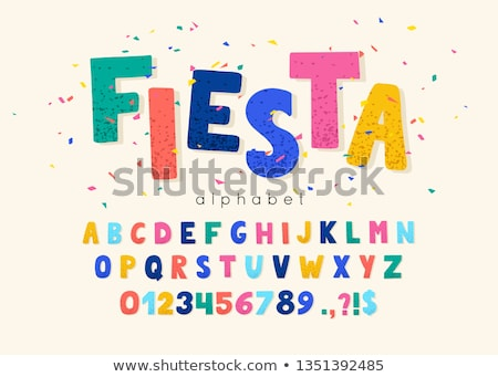 abc confetti stock photo © davinci