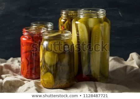 klaar · top · bereid · komkommers · glas - stockfoto © FOTOYOU