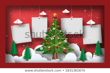 Navidad vintage amor marco pelota Foto stock © marimorena