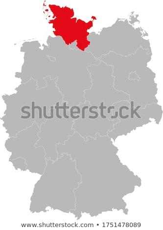 地図 · ドイツ · フラグ · バナー · ベクトル · 孤立した - ストックフォト © istanbul2009
