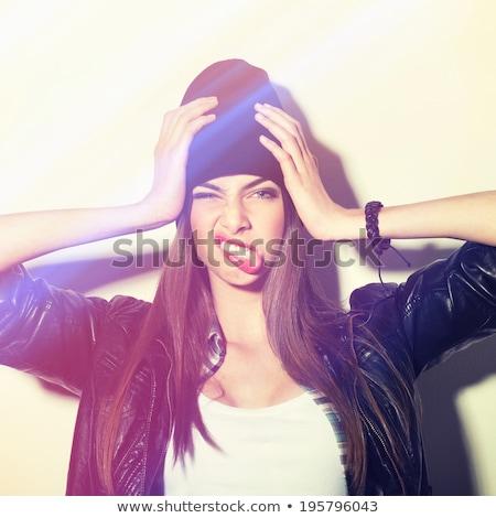 かなり ヒップスター 頭痛 白 健康 女性 ストックフォト © wavebreak_media