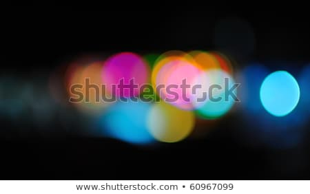 Blurred golden orange night city lights Stock photo © lunamarina