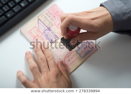 Immigration Control Stock photo © Bigalbaloo