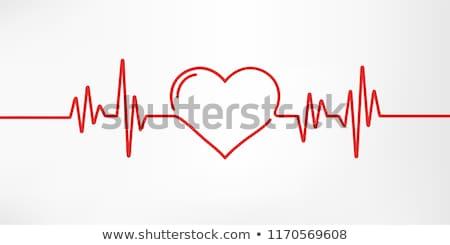 elektrocardiogram · hart · analyse · grafiek · papier - stockfoto © fotoyou
