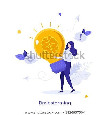 Macht creatieve energie nieuwe ideeën hand Stockfoto © stevanovicigor