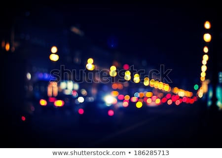 City lights and traffic headlight bokeh Stock photo © stevanovicigor